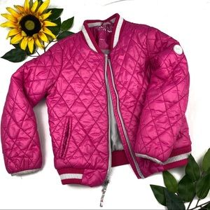 Michael Kors girl's puffer jacket coat Raspberry